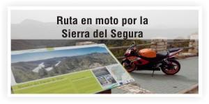 Rutas en moto por la Sierra del Segura