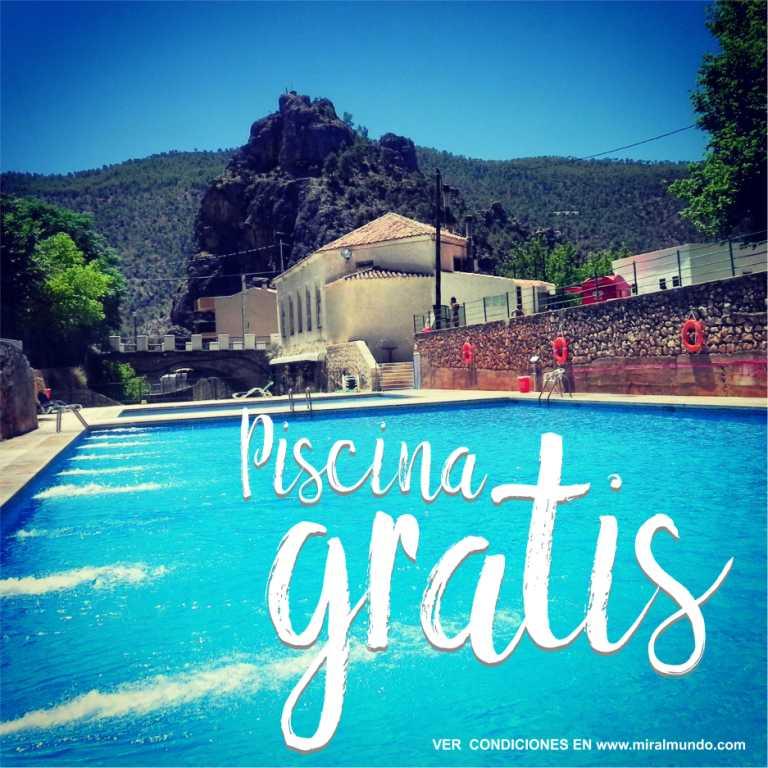 Refrescate en la sierra del segura piscina gratis con for Piscina municipal albacete