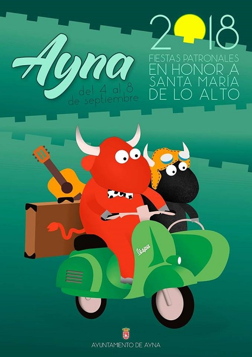 Fiestas Aýna 2018 - Cartel