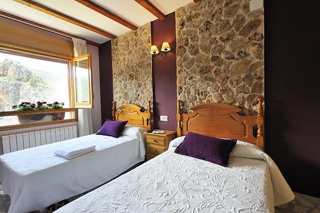 Habitación doble con dos camas - MIralmundo hotel rural en Aýna Albacete