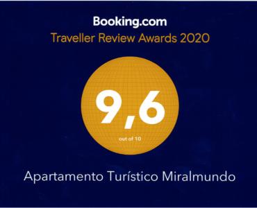 Sobresaliente de Booking para nuestro Apartamento Turístico en Aýna.